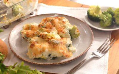 Coliflor con brócoli gratinado
