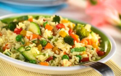 Arroz con verduras agridulce
